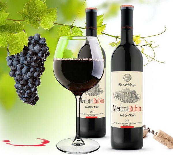 wine merlot & rubin